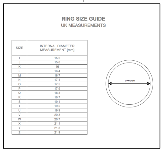 Uk Ring Size Guide