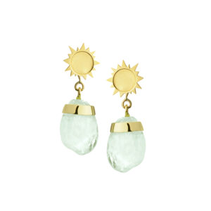 Sun Drop Earrings in Aquamarine