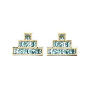 Temple Earrings in Blue