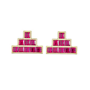 Temple Earrings in Red