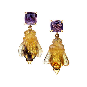 Fire Wasp Earrings