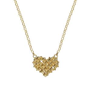 Waffle Heart Necklace