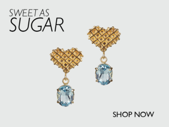 Blue Topaz Sweet Heart Earrings // Tessa Packard // Other Colours Available