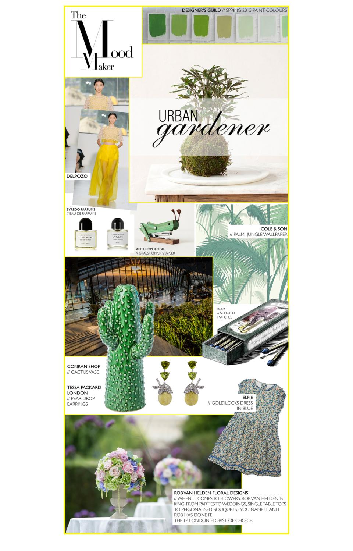 Urban Gardener featuring Tessa Packard Pear Drop Peridot and diamond earrings