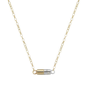 gold, silver, and diamond necklace by Tessa Packard London Contemporary Fine Jewellery