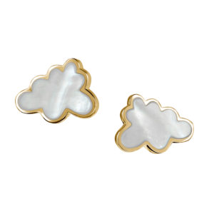 Thundercloud Earrings in Gold