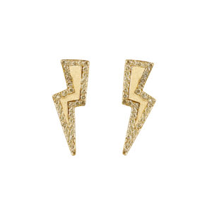 Diamond Bolt Earrings in Gold