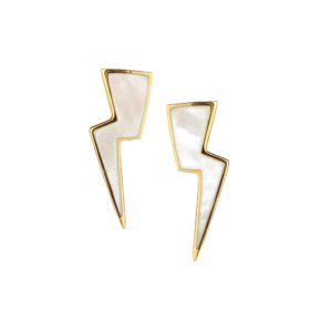 Thunderbolt Earrings in Gold