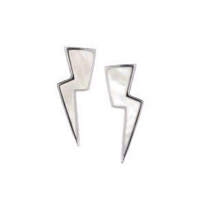 Thunderbolt Earrings in Silver