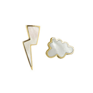 Thunderstorm Earrings in Gold