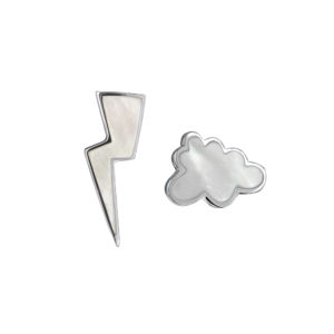 Thunderstorm Earrings in Silver