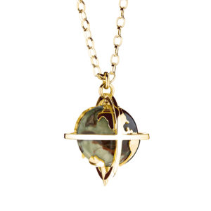 Explorer Pendant in rhyolite-gold