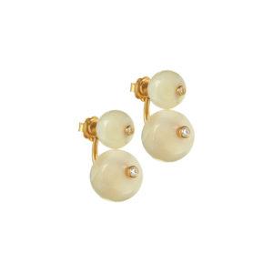 Short Orbit Earrings in white