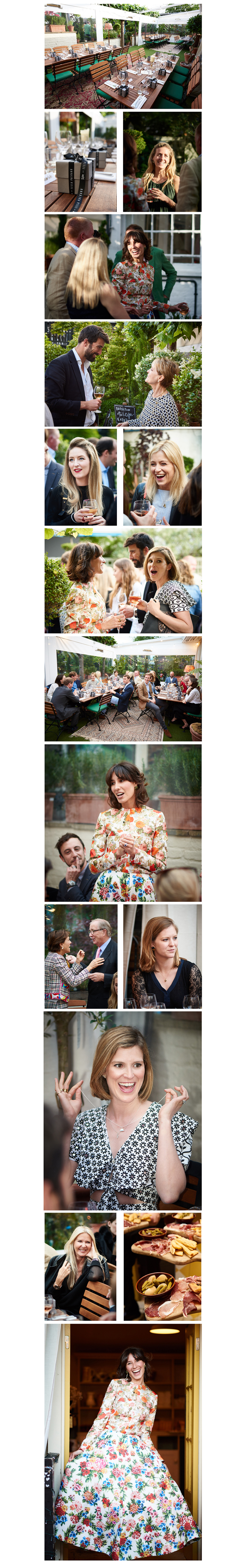 Tessa Packard London Contemporary Fine Jewellery Summer Dinner Party Snap shots