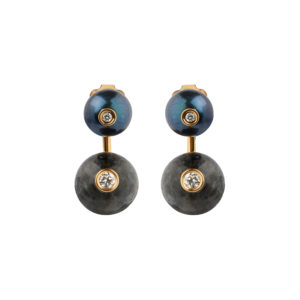 Orbit Earrings in Gunmetal