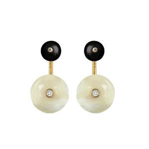Long Orbit Earrings in Starlight