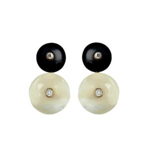 Short Orbit Earrings in Starlight