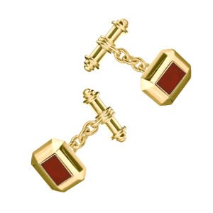 Ruby Cryptic Cufflinks