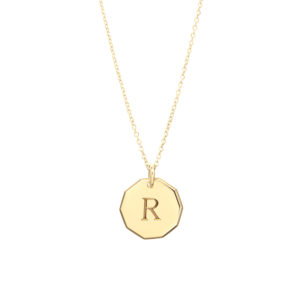 Trick-or-Treat Pendant in Gold – One Initial