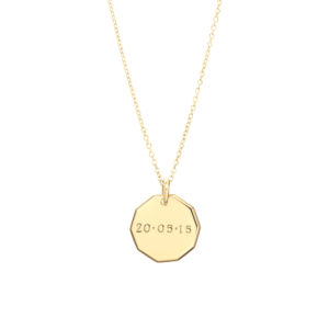 Trick-or-Treat Pendant in Gold – With Date or Name