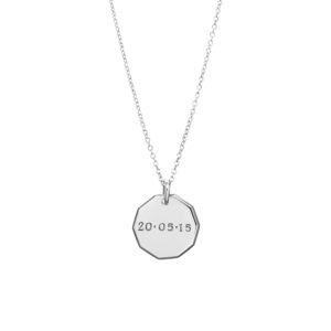 Trick-or-Treat Pendant in Silver – With Date or Name
