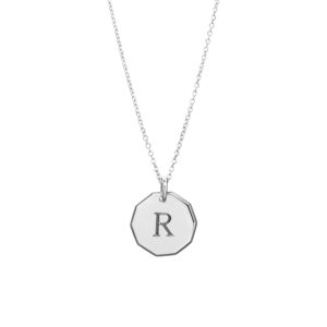 Trick-or-Treat Pendant in Silver – One Initial