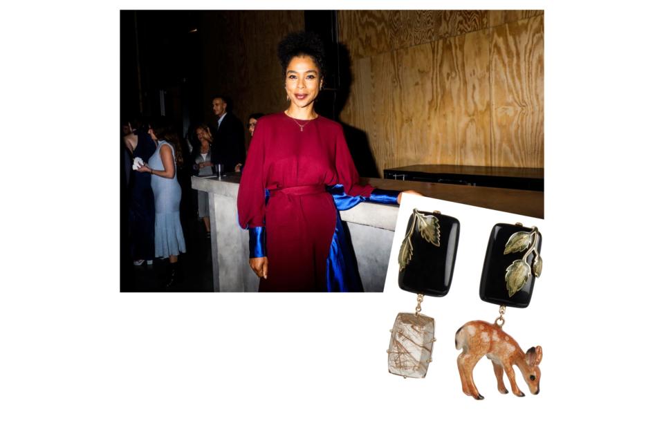 Sophie okonedo wearing Tessa Packard London Contemporary fine Jewellery