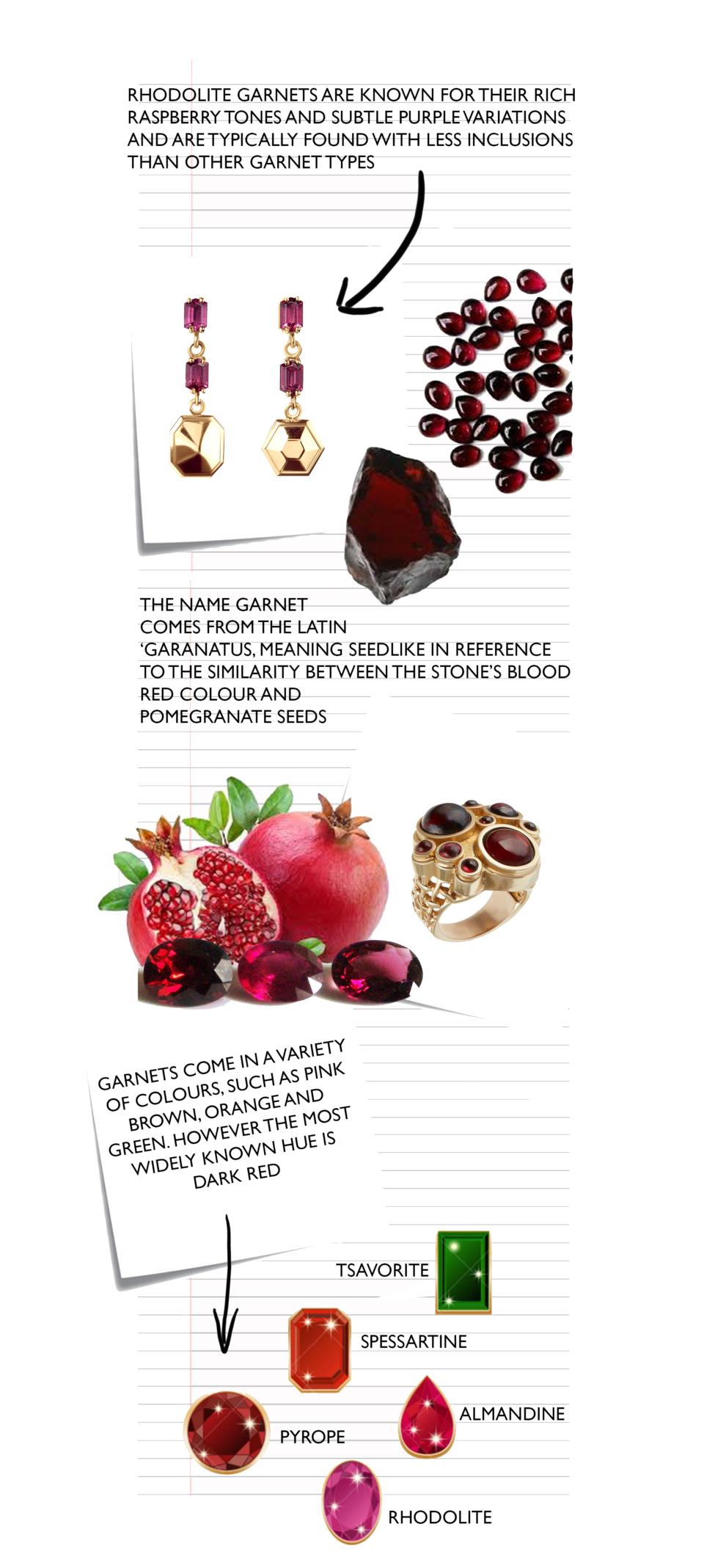Tessa Packard London Blog: Garnet Birthstone featuring the Puzzle Earrings in Rhodolite Garnet