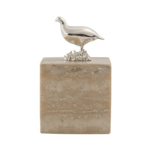 Grouse Cube in Travertine