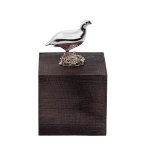 Grouse Cube in Grey Wood