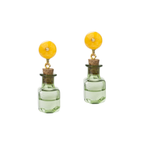 In Case of Emergency Earrings [Yellow-Green]