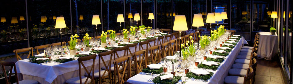 Tessa Packard London Contemporary Fine Jewellery hosts their very early Summer Dinner in a magical greenhouse setting with delicious food from Mustard Catering