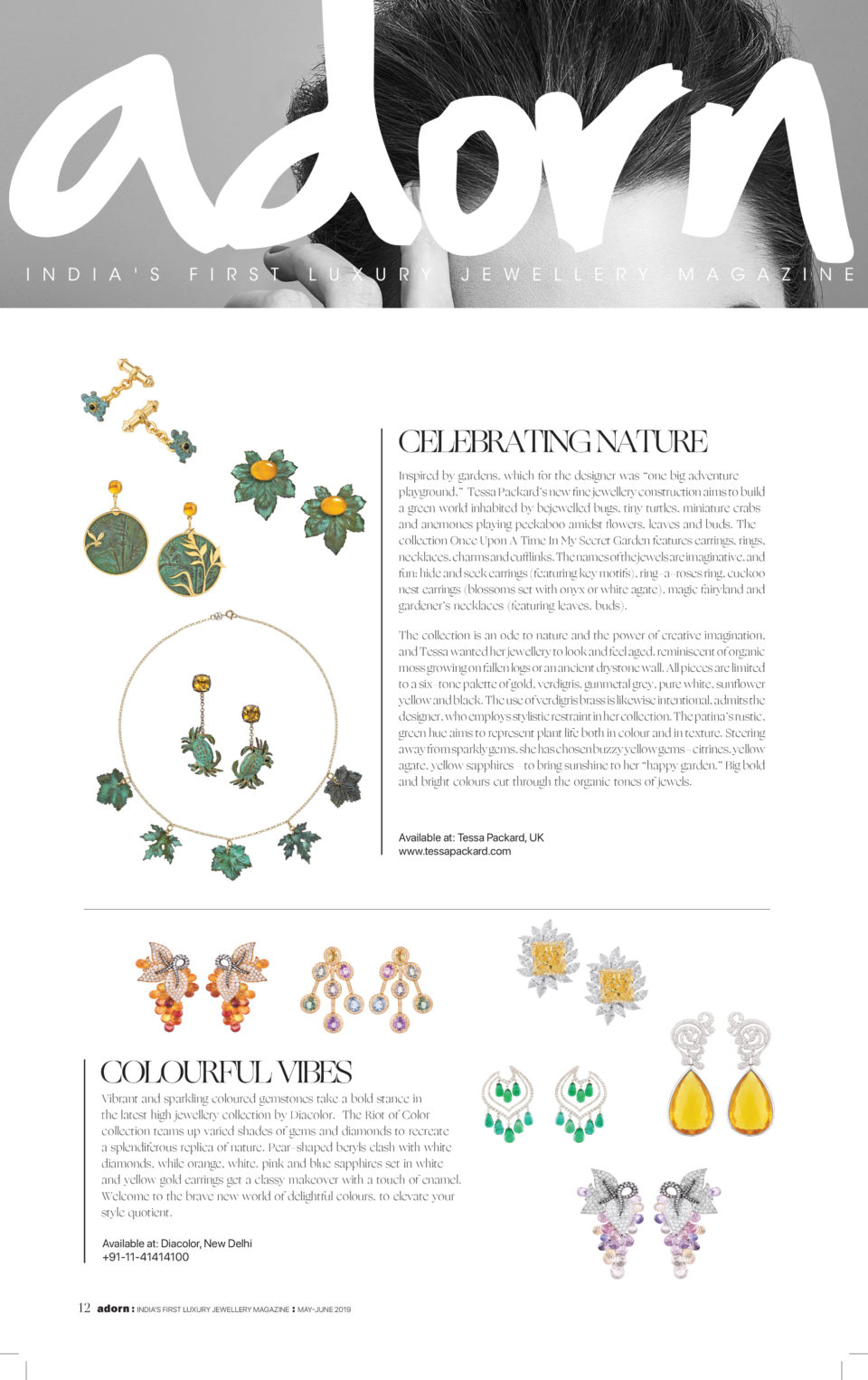 Once Upon a Time In My Secret Garden Collection by Tessa Packard London Contemporary fine Jewellery Featured in Adorn India May 2019 issue