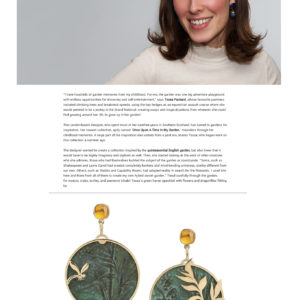 Secret Garden Collection by Tessa Packard London Contemporary Fine Jewellery Featured in VO+ Magazine May 2019 Issue