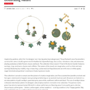 Once Upon a Time in a Secret Garden Jewellery Collection by Tessa Packard London Contemporary Fine Jewellery
