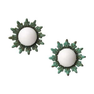 First Bud Earrings [white]