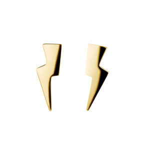 Bolt Earrings In Gold