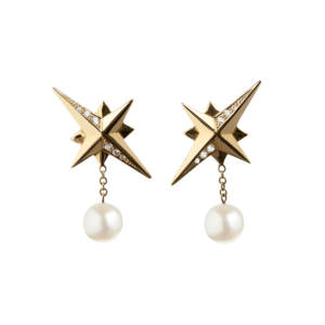 Diamond Northbound Earrings in white