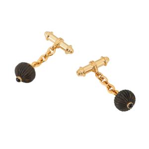 Black Anemone Cufflinks