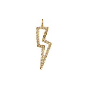Diamond Bolt Charm in gold