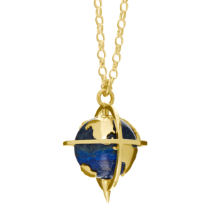 Explorer Pendant in Lapis-Gold