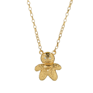 Mr Gingerbread Man Necklace