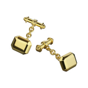 Cryptic Cufflinks in Gold