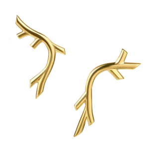 Creeper Earrings in Gold