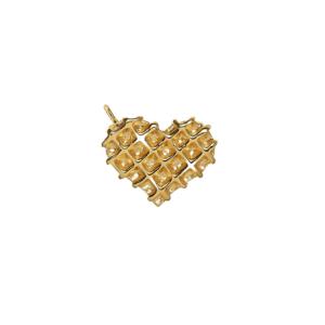 Waffle Heart Charm