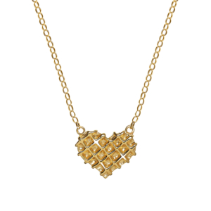 Waffle Heart Necklace