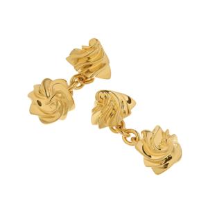 Iced Gem Cufflinks in gold