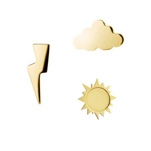 All-Weather Earrings in Gold