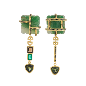 Courtesan's Earrings in Green