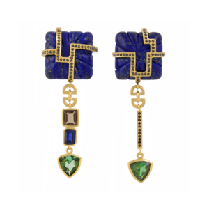 Courtesan Earrings in Blue